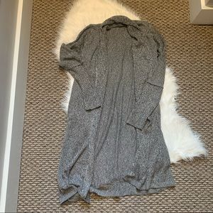Soho Gray Sweater Cardigan Duster Size Small